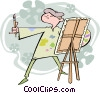 artist, painter Vector Clipart picture