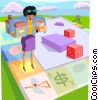 Vector Clip Art graphic  of a the game of life
