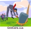 Vector Clipart picture  of a business metaphor