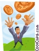 pennies from heaven Vector Clipart illustration