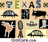 Vector Clipart graphic  of a Texas