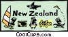 Vector Clip Art image  of a New Zealand