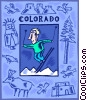 Colorado, skiing Vector Clipart illustration
