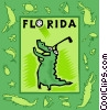 Florida, golfing, alligator Vector Clipart illustration