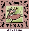 Vector Clip Art image  of a Texas