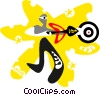 Vector Clip Art graphic  of a sport design