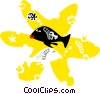 fish design Vector Clipart illustration