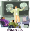 Vector Clip Art graphic  of a processing power rivals the human brain