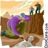 archaeological dig Vector Clipart illustration