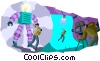 movie set Vector Clipart picture