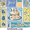 Vector Clip Art graphic  of a party design