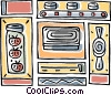 Vector Clipart graphic  of a cooking design