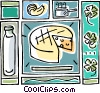 Vector Clip Art graphic  of a cheese