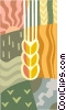 symbol for wheat and grain crops Vector Clipart illustration