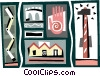 building design Vector Clipart graphic