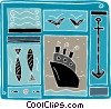 Vector Clipart illustration  of a cruise ship design