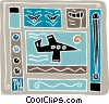 Vector Clip Art graphic  of an airport design