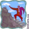 Vector Clipart image  of a climbing to the top