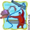 Vector Clip Art picture  of a construction site