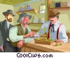 old west, weighing gold Vector Clipart graphic