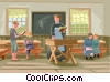school, teacher Vector Clip Art image