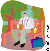 lunch in the park Vector Clipart picture