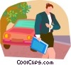 late for a meeting Vector Clipart graphic