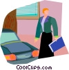 Vector Clipart graphic  of a crossing the street