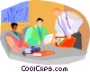 meeting, comparing ideas Vector Clipart picture
