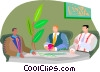 Vector Clipart graphic  of a meeting