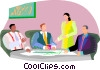 meeting, comparing ideas Vector Clipart illustration
