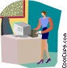 Vector Clip Art image  of a secretary