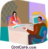 interview, computer, social interaction Vector Clip Art picture