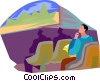 theatre, movie Vector Clipart illustration