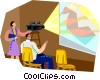 Vector Clip Art image  of a presentation film