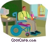 wheelchair, handicapped Vector Clip Art image