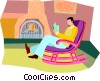 Vector Clipart image  of a relaxing