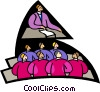 Vector Clip Art graphic  of a symbolic people; education