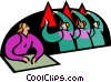 symbolic people; education Vector Clip Art picture