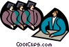 symbolic people; education, graduation Vector Clipart picture