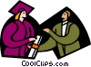 Vector Clipart graphic  of a symbolic people; education
