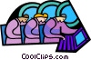 Vector Clipart graphic  of a symbolic people; business