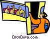 Vector Clipart picture  of a symbolic people; education
