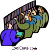 Vector Clip Art picture  of a symbolic people; education