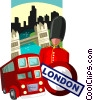 Vector Clip Art graphic  of a London