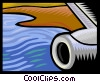 airplane, water Vector Clipart image