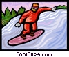 snowboarder Vector Clipart illustration