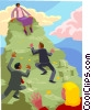 Vector Clipart illustration  of a money mountain