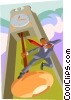 Vector Clipart illustration  of a on the pendulum