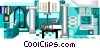 Vector Clipart picture  of a industrial plant